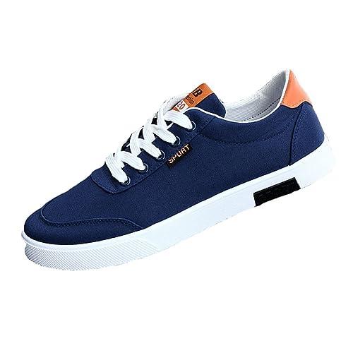 52813d04a11 Yying Zapatos con Cordones para Hombre - Respirable Zapatillas de Deporte  Al Aire Libre Calzado Moda Low Top Casuales Zapatos para Adolescentes:  Amazon.es: ...