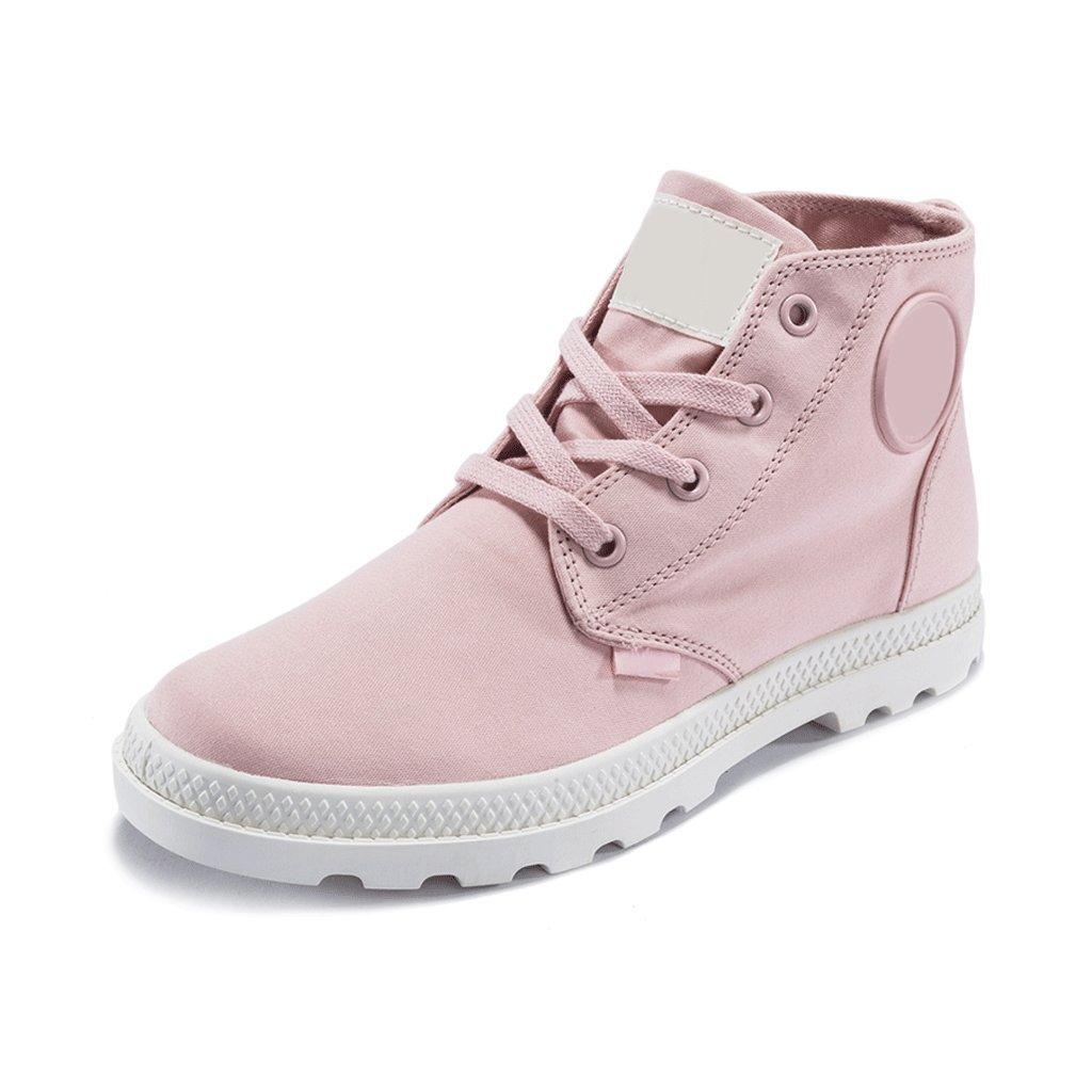 LIUXUEPING Summer Female Canvas Shoes Shoes High Heel Shoes Shoes Flat Shoes Tide Shoes (Color : Pink, Size : 36) B07GM5L8QY Dance 84bdf7