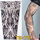 1Pc Unisex Nylon Elastic Temporary Tattoo Sleeve Body Arm Stockings UV Protection Tattoo Arm Sleeves for Men Tattoo Sleeves Cover up Stretchable Cosplay Costume Accessories for Men & Women (B)
