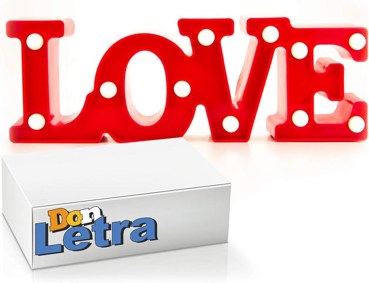 DON LETRA - Lámparas Decorativas de Love Decoración Iluminación ...