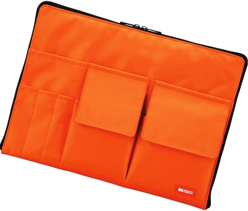 LIHIT LAB Laptop Sleeve with Storage Pockets (Bag-in-Bag), 10 x 13.8 Inches, Orange (A7554-4)