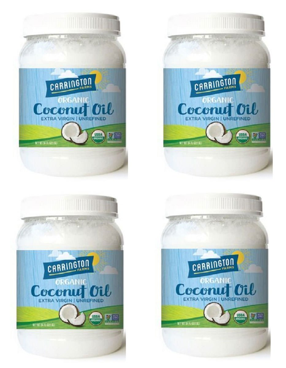 Carrington Farms Organic Extra Virgin Coconut Oil, 54 Ounce, 4 Pack by Carrington Farms (Image #1)