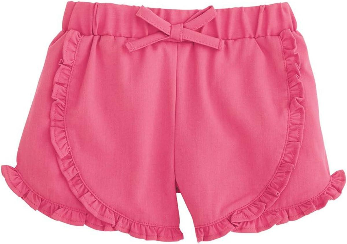 Mud Pie Baby Girls Ruffle Shorts-Fuschia