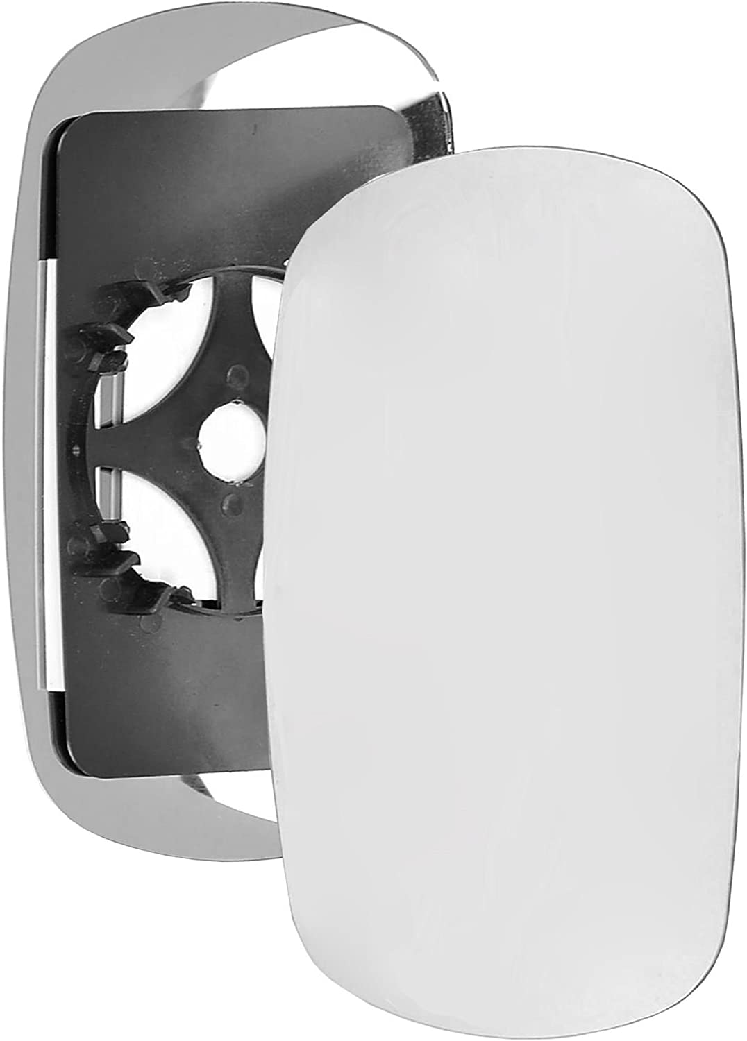 Driver right hand side wing door Silver mirror glass with backing plate #C-SN//R-FTDBO01 Clip On