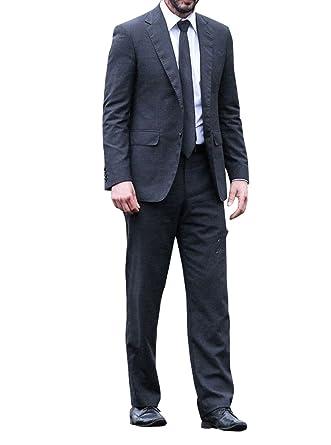 John Wick 2 Keanu Reeves Men's Black 2 Piece Suit at Amazon