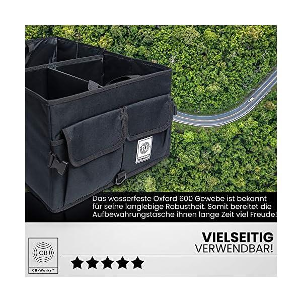 61qGBl4e7wL CB-WORKS Kofferraum Organizer Faltbare Auto Tasche, rutschfest mit Klett & extra Spanngurte, Zubehör Aufbewahrung…