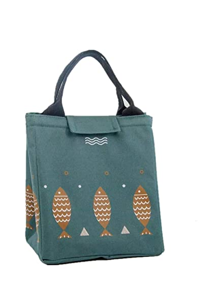 886c4b69fd9e Lunch Bag Reusable Lunch Box Tote Bag Insulated Lunch bags for Women Men  Kids Lunch Bag for Work school Picnic BBQ (Dark green)
