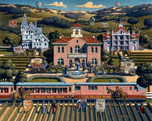 "Napa Valley 1000pc Jigsaw Puzzle By Dowdle Folk Art 19x26"""