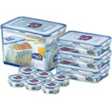 (Pack of 10) Lock & Lock Assorted Food Storage Airtight Container Set (SET-G)
