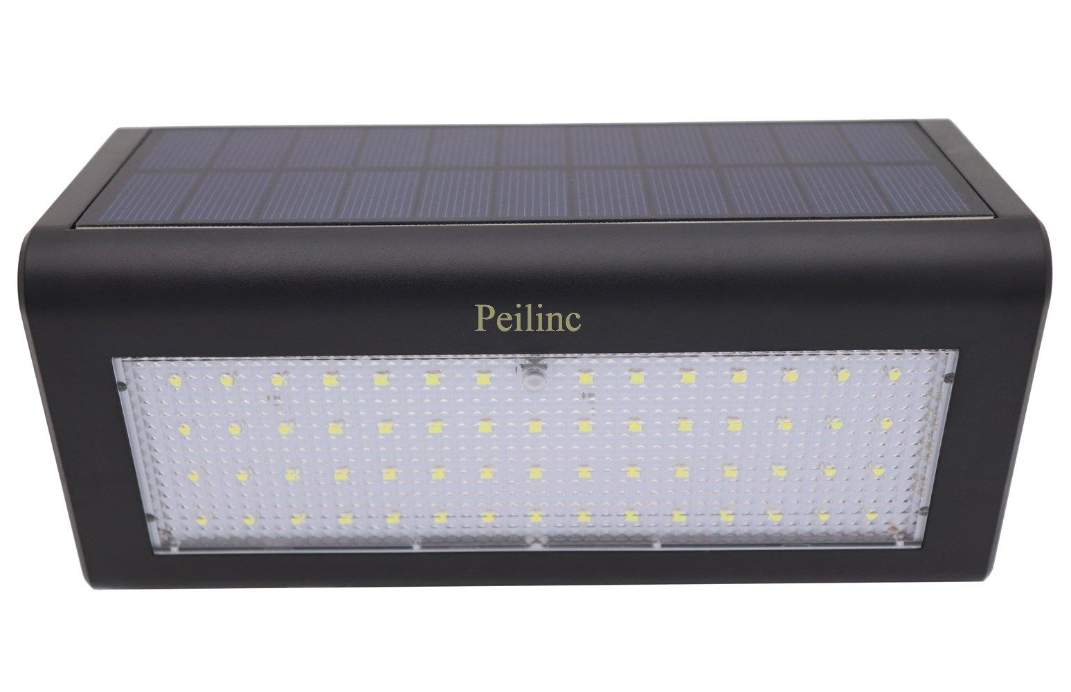 Peilinc Super Bright 59 LED 1200 Lumens Wireless Water Proof Solar Lights Outdoor Radar Motion Sensor Light for Outdoor Front Door, Back Yard, Patio, Driveway, Garage, Wall Light -Black