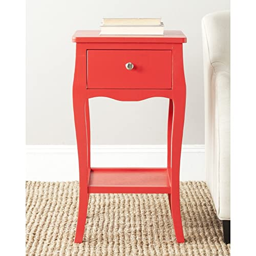 Safavieh American Homes Collection Thelma End Table, Hot Red