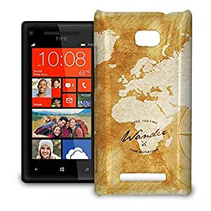 Phone Case For HTC 8X - Wander The World Protective Back