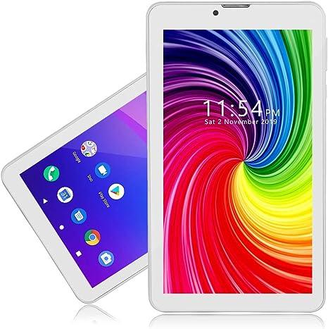 Indigi 4G LTE Desbloqueado Android Pie, Smartphone de 7 pulgadas con ranuras dualSIM, CPU QuadCore 2 GB RAM/16 GB ROM ampliable hasta 512 GB, 3500 mAh (blanco): Amazon.es: Electrónica