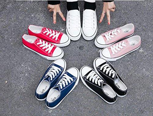 ZFNYY Chaussures de Toile personnalité Féminine Fond Plat tir Faible Aider Les étudiants Mode Décontractée nFdrYMb
