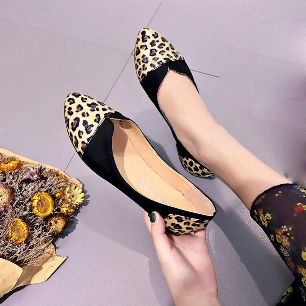 dc5f7e7ef3e9 Amazon.com: Women Ballet Flats Snake Leopard Print Faux Leather Office Work  Shoes Dress Shoes by Lowprofile: Clothing