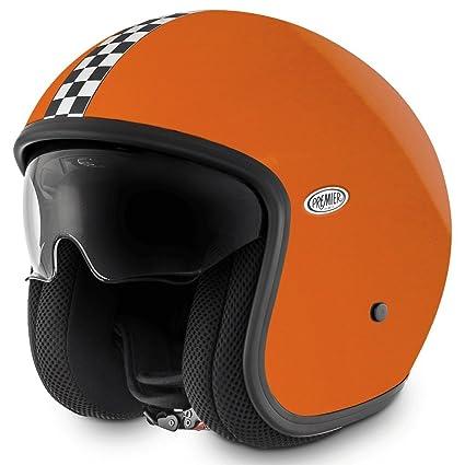 Amazon.es: Premier Jet Vintage Open Face casco de moto - Naranja ...