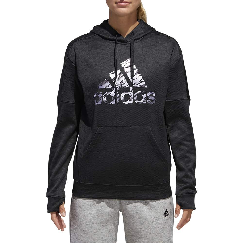 Noir mélangé S adidas Athletics Badge de Sport Imprimé Camouflage Sweat à Capuche