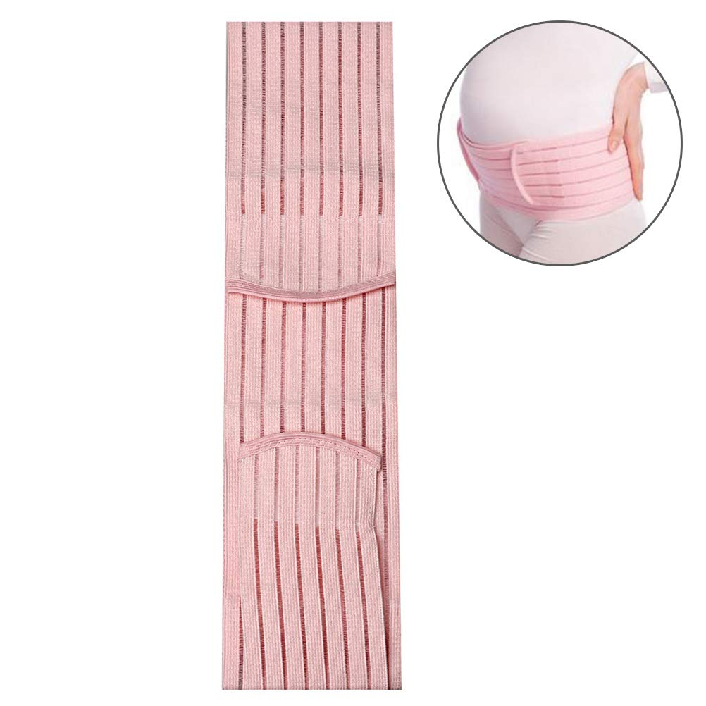 nuosen Maternity Belt, Recovery Belly/Waist/Pelvis Belt Comfortable Pregnancy Support - One Size Pink
