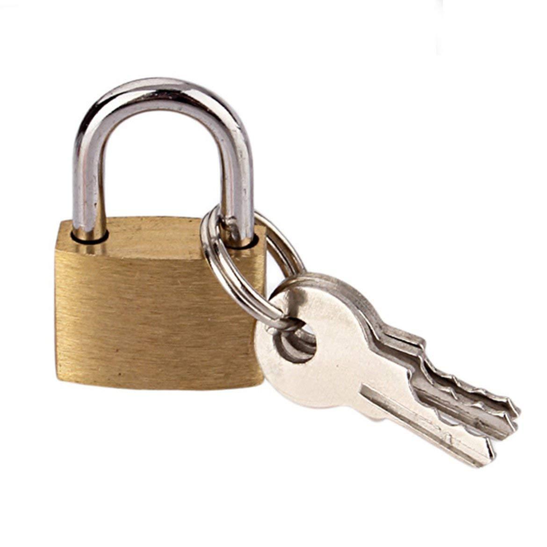 Oro y plata Candado de cobre Wolf Dog de tama/ño peque/ño Cerradura de lat/ón con cabeza de lobo Cerraduras peque/ñas Cerraduras de puertas N/úcleo de cerradura antioxidante con 3 llaves