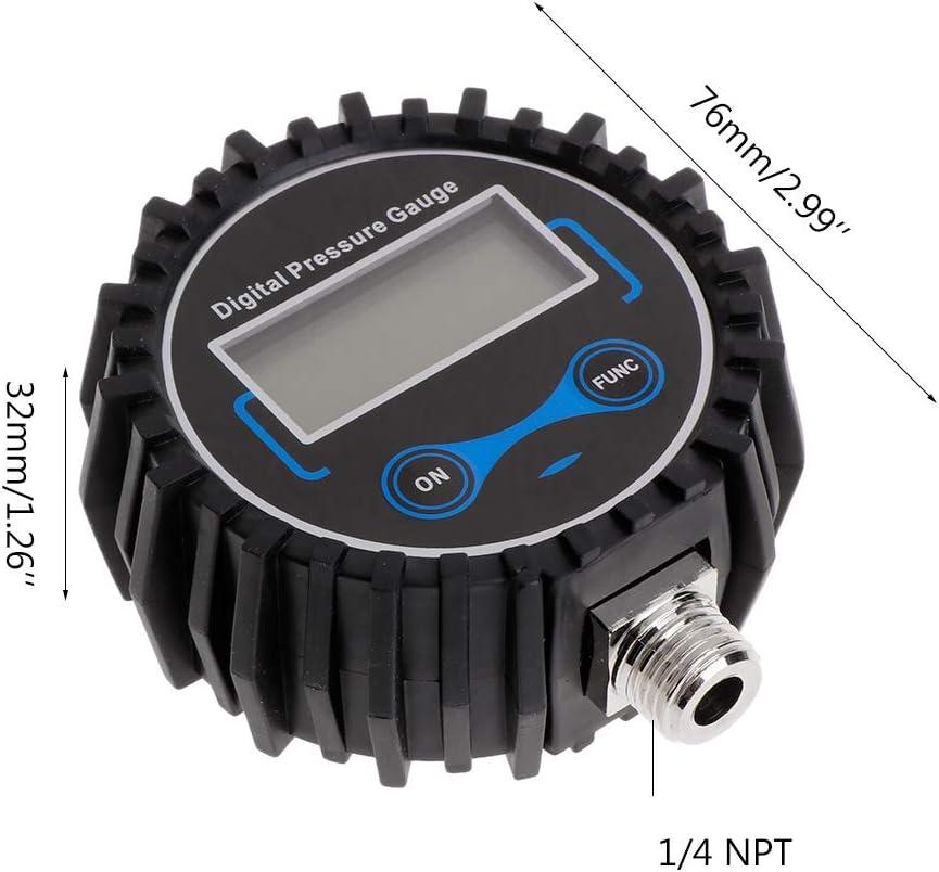 Misuratore di Pressione per Pneumatici Digitale siwetg per Pneumatici di Moto e Auto