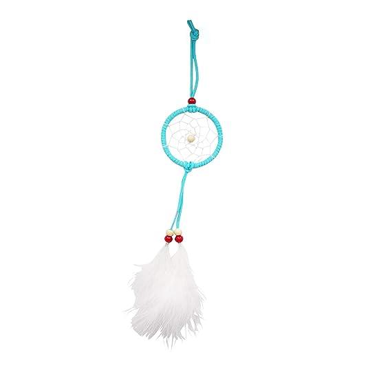 Fabulous Bijoux Calzador de sueños en hilo blanco con una pluma blanca UojXpN6