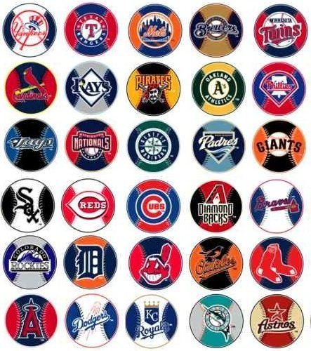 - MLB Major League Baseball Prismatic Stickers Set of 30 Teams