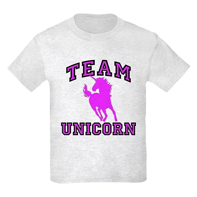 07f423cf CafePress - Team Unicorn Kids Light T-Shirt - Kids Cotton T-Shirt Ash