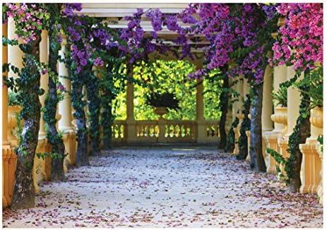 Papel pintado fotográfico terraza callejón flores columnas naturaleza Giant Póster Mural de pared (10877ve), 312cm x 219cm (WxH): Amazon.es: Bricolaje y herramientas