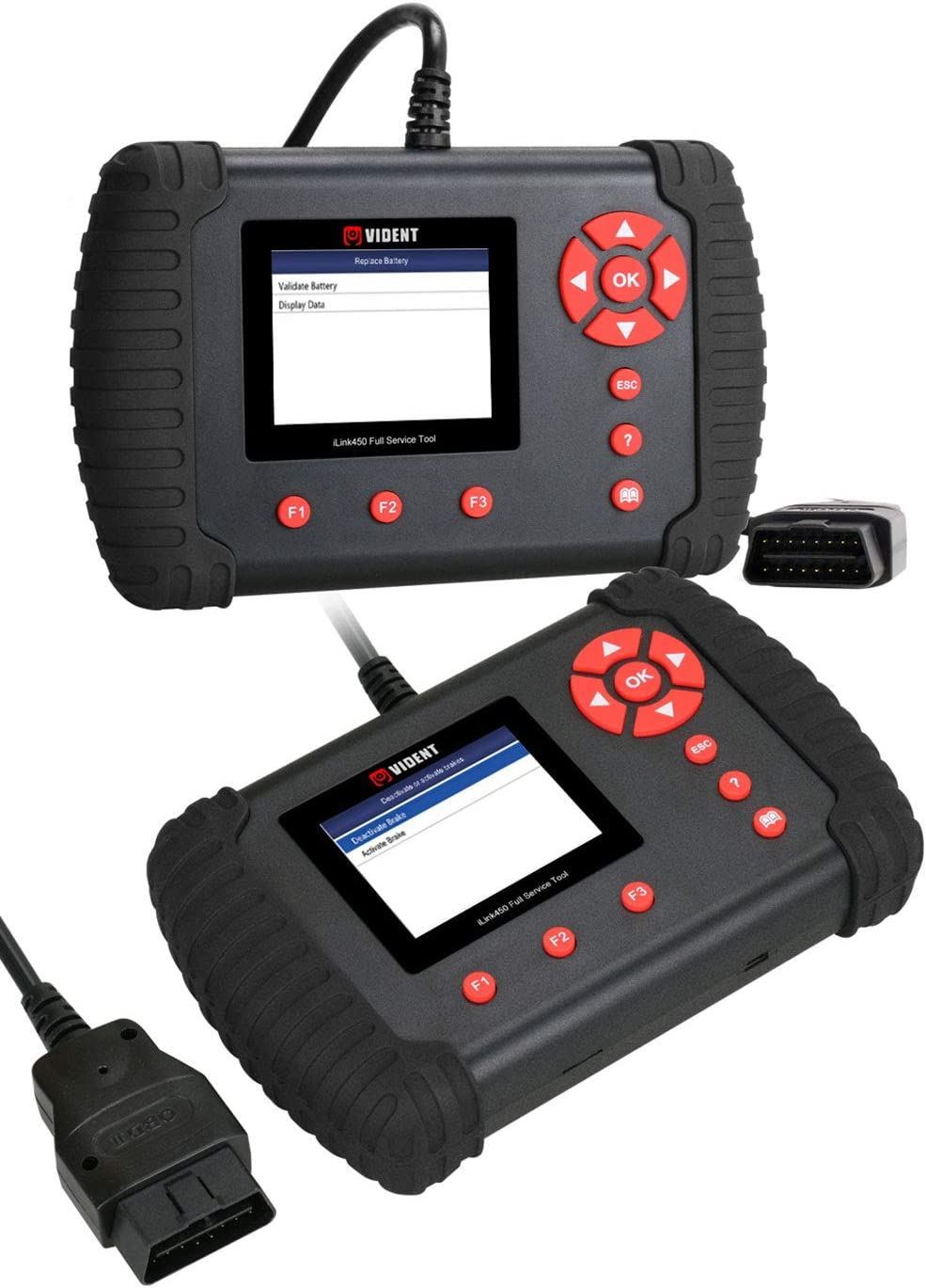 VIDENT Ilink450 Sistema Completo OBD-II Engine System Strumenti diagnostici EPB Service Oil Light ABS airbag SRS TBA//TPS SAS Reset BRT Dpf Reeneration Code Reader Scanner