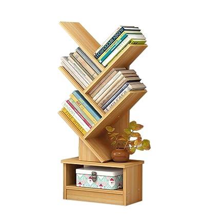 Amazoncom Jcnfa Shelves Wooden Bookcase Tree Shelf Floor Stand