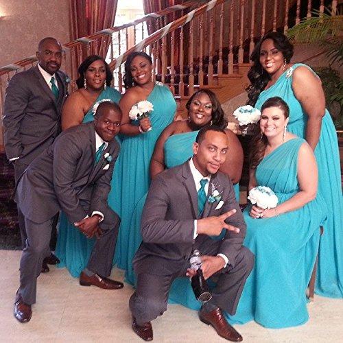 Alfred Angelo 7243 Draped Chiffon Full Length Bridesmaid Dress- size 16