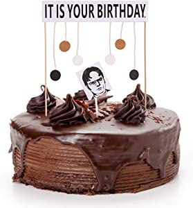It Is Your Birthday Cake Topper Office Theme Dwight Schrute Birthday Party Supplies Decorations