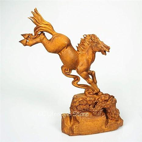 YZDSBD Estatuas esculturas de Madera de boj Tallada a Mano de ...