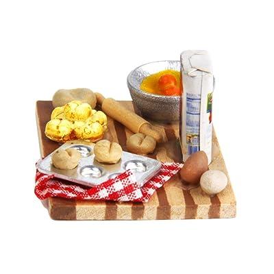 1/12 Casa de Muñecas en Miniatura Comida de Cocina Huevos Leche Pan: Juguetes y juegos