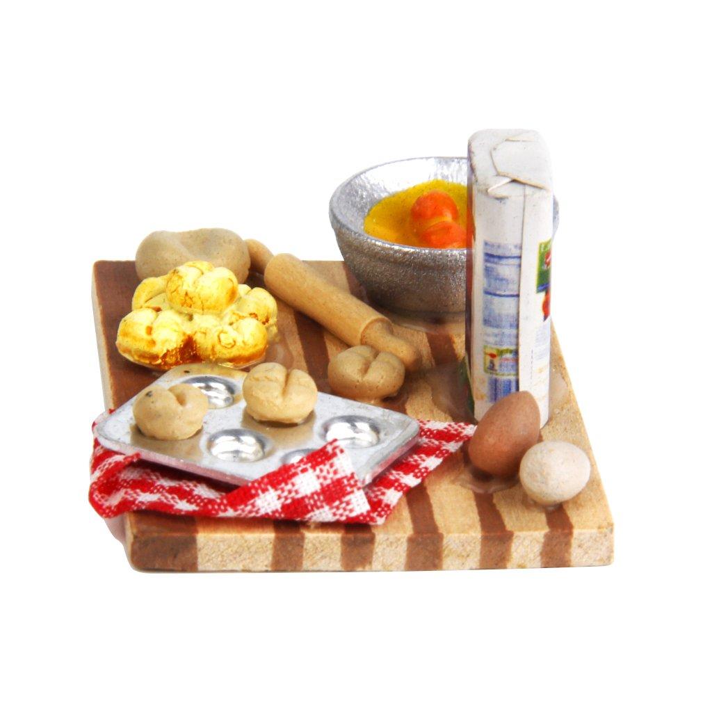 1/12 Casa de Muñecas en Miniatura Comida de Cocina Huevos Leche Pan Generic