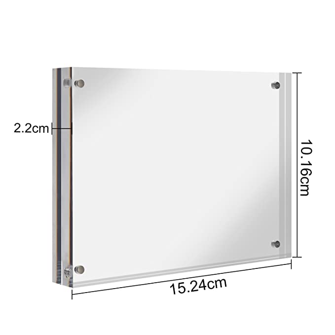 CRUODA Acrylic photo frame 4x6, Magnetic Picture Frames, Double ...