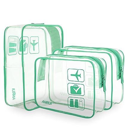 Amazon.com: Anrui - Neceser transparente aprobado por la TSA ...