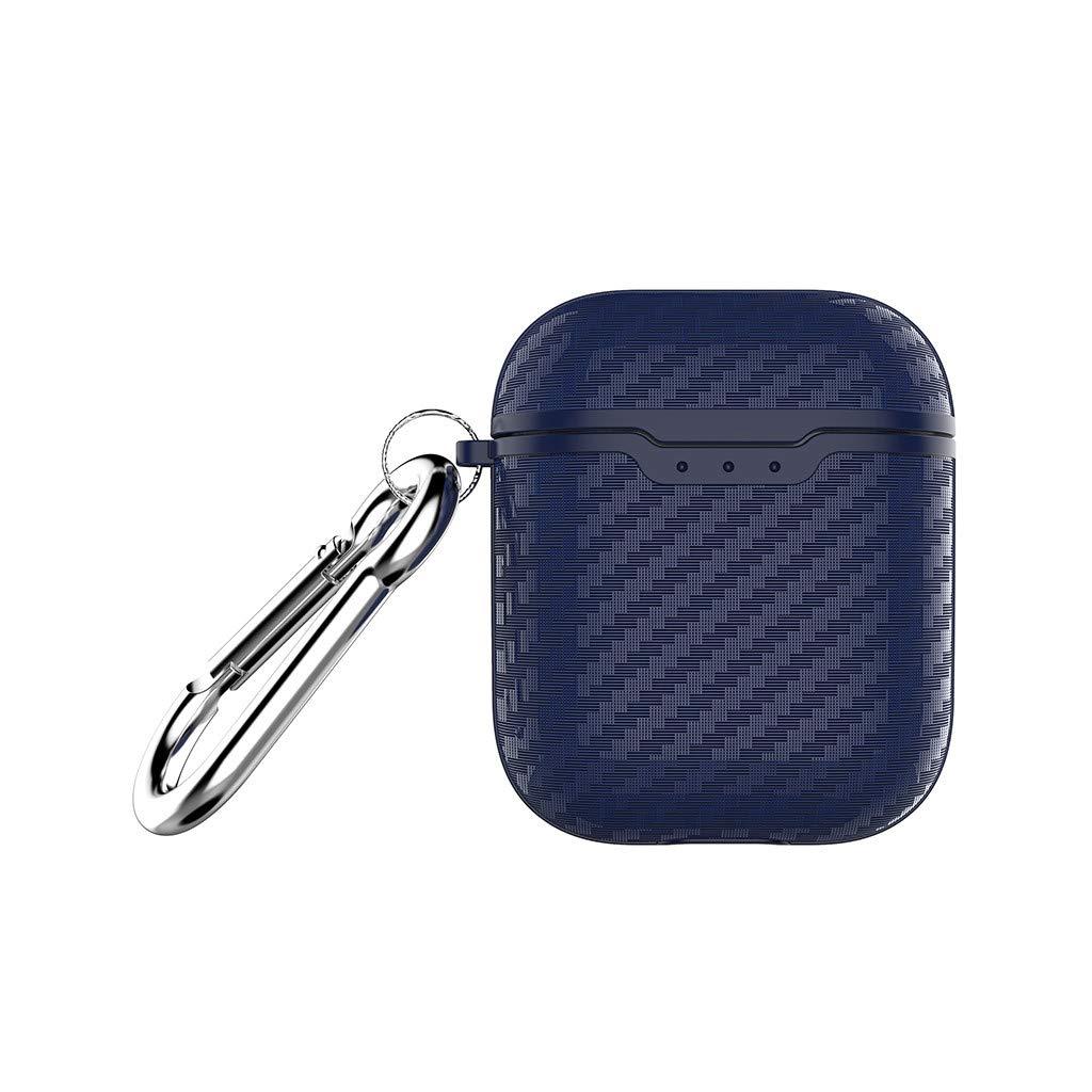 Cubierta protectora del auricular de fibra de carbono para Apple Airpods 1E fibra de carbono negra Webla