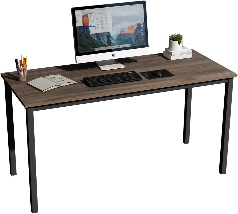 SogesHome Computer Desk 55 inches Large Desk Writing Desk with BIFMA Certification Workstation Office Desk,NSDUS-GCP2AC3-140BW
