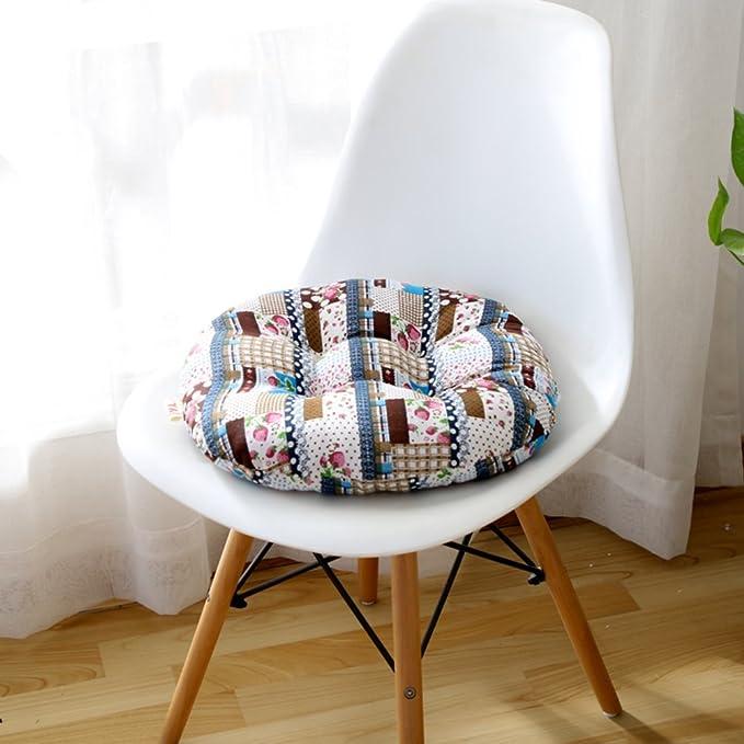YOLI Almohadilla de Oficina Engrosada,Cojines de Tatami Cojín Redondo Respirable Asiento del Piso Cojín de sofá-J 49x49cm(19x19inch): Amazon.es: Hogar
