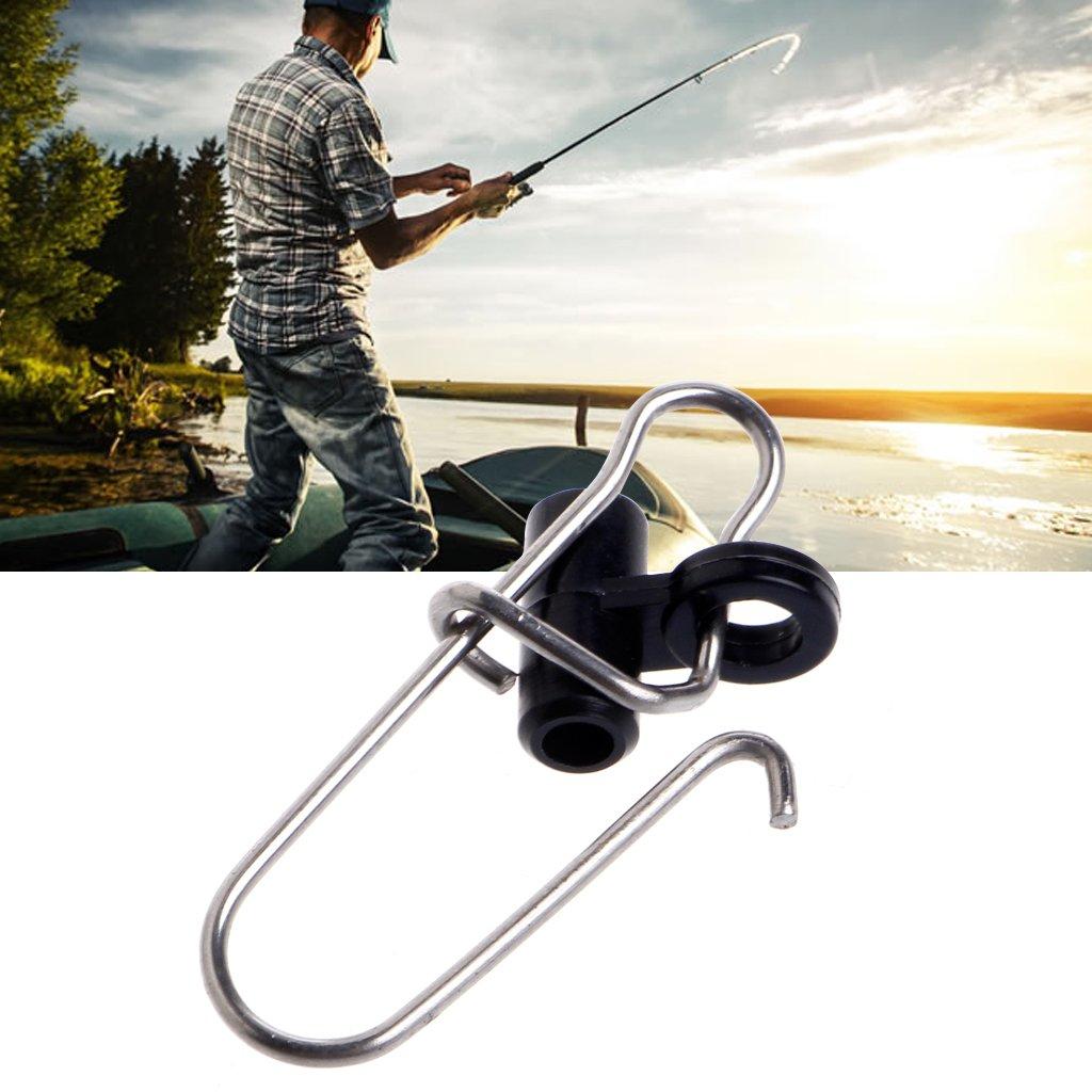 MagiDeal 60pcs Fishing Sinker Slides Snap for Braid Line Fishing Swivels