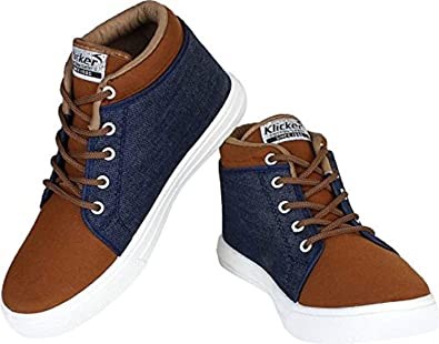 6fd0748713af Tryviz High Neck Lives Lace Up Casual Shoes for Men (8): Amazon.in ...
