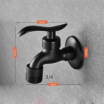 FZHLR Lavadora Grifos Negro Acabado De Montaje En Pared Grifo De, Cobre Al Aire Libre Jardín Lavadora Grifo Toque Pequeño Grifo, Negro E: Amazon.es: Bricolaje y herramientas
