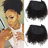 Afro Kinky Curly human hair ponytail extensions Kinky Curly drawstring human hair ponytail hairpieces natural curly clip in ponytail (16)