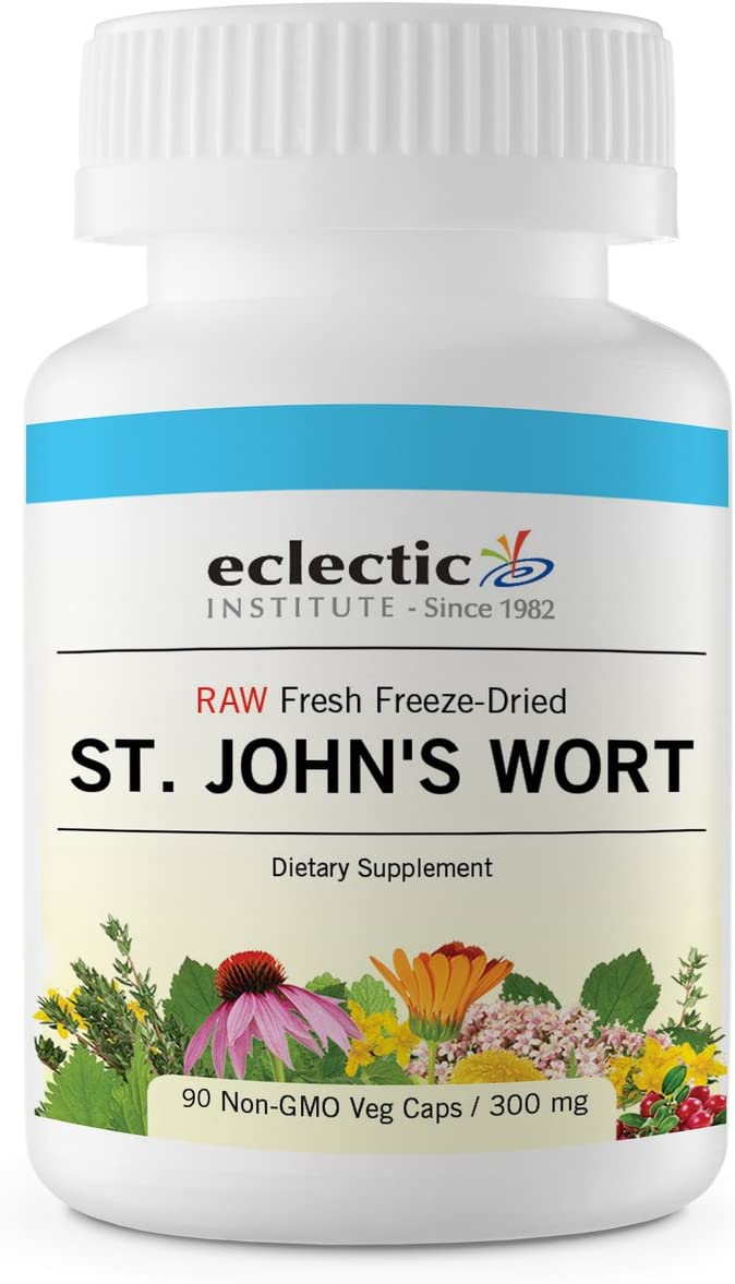 Eclectic St. John s Wort 300 Mg Freeze Dried Vegetables, Pink, 90 Count