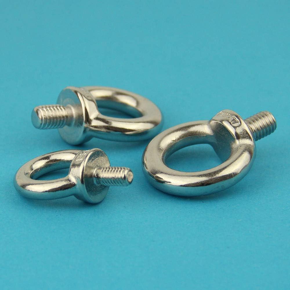 Eisenwaren2000 DIN 580 gegossen und poliert 5 St/ück - Ringschrauben /ähnl Augbolzen rostfrei /Ösenschrauben M6 x 13 mm Edelstahl A2 V2A