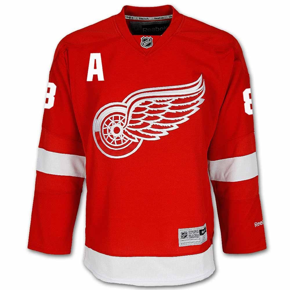 Justin Abdelkader Detroit Red Wings Home Jersey by Reebok, Red, Small