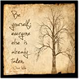 ECHO-LIT Be Yourself Motivational Poster Featuring a Quote by Oscar Wilde. Eco-Friendly Art Print