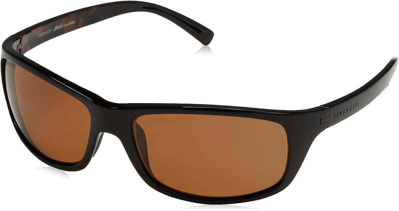 SERENGETI Bormio Gafas, Unisex Adulto, (Shiny Tortoise Black), M