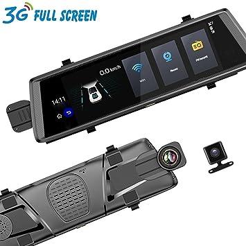 3G 10 pulgadas Dash Cam cámara del coche DVR automóvil espejo GPS Full HD 1080P espejo